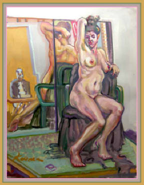 Artiste with Tie, Mirror and Nude